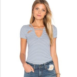 Free People | Frenchie Striped Cut Out Top Med